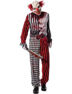 Mens evil scary clown circus halloween #outfit #fancy #dress costume, View more on the LINK: http://www.zeppy.io/product/gb/2/282139929715/
