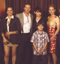 Once Upon a Time cast. Lana, Josh, Ginnifer, Jared, and Jennifer.