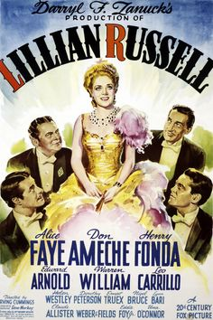 Lillian Russell (1940) starring Alice Faye, Don Ameche, Henry Fonda and Edward Arnold. The movie featured some of Joseff Hollywood's most beautiful jewelry.