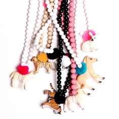 so cute! necklaces for kids by HIPKIDZ Kids Necklace, Tassel Necklace, Necklaces, Inspiration For Kids, Mode Inspiration, Kind Mode, Mini, Kids Fashion, Diy Crafts