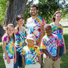 If you like tie-dye clothing, try this twisted tie-dye tee project. Use lots of bright colors for a bold look that's sure to stand out. Then add your name in fabric paint for a personalized touch!