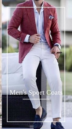 Best Smart Casual Outfits, Summer Outfits Men, Stylish Outfits For Men, Outfit Summer, Blazer Outfits Men, Cap Outfits, Designer Suits For Men, Mens Fashion Suits, Mens Clothing Styles