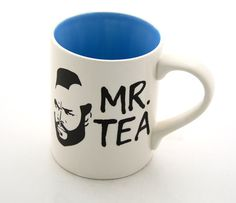 Mr T Mug Tea Cup Featuring Mr T Turquoise Blue by LennyMud on Etsy, $18.00