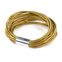 Fab.com   Matisse Leather Bracelet Golden