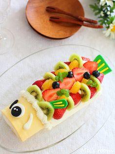 こどもの日に*こいのぼりのロールケーキ