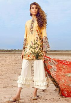 Cross Stitch Peach Blossoms Summer Lawn 2017 Volume 2 Price in Pakistan famous brand online shopping, luxury embroidered suit now in buy online & shipping wide nation. Whatsapp: 00923452355358 Website: www.NoT that i wud wear,,, but looks good on mod Pakistani Bridal Wear, Pakistani Dress Design, Pakistani Outfits, Pakistani Frocks, Pakistani Clothing, Simple Dresses, Beautiful Dresses, Casual Dresses, Fashion Dresses
