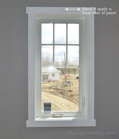 DIY Simple Craftsman Shaker Window & Door Trim by The DIY Mommy