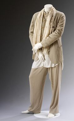 *Currently on display in The Glamour of Italian Fashion 1945 - 2014*. Man's ensemble, Giorgio Armani, Spring/Summer 1994.