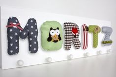 Reuberkind wardrobe with name or motif boy - Home Page Sewing For Kids, Diy For Kids, Little Babies, Baby Kids, Boys Home, Room Inspiration, Kids Room, Baby Shoes, Diy Projects