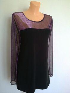 Halenka-s fialovou pavučinkou Halenka,tričko,tunika,mírně projmuté v barvě černé, s fialovými doplňky,vsadkou na obou dílech a průhlednými fialovými rukávy...materiál je elastická BA,fialová pavučinka je jemná pružná organza,s tiskem kytiček....praní na 30st,,,žehlení radši jen u černé BA,organzu-stupeň silon. Prsa-112cm Boky-112cm Dlouhé-77cm Rukáv-67cm Velikost: ... Women, Fashion, Moda, Fashion Styles, Fashion Illustrations, Woman