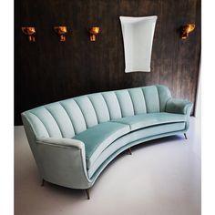 Vintage curved Italian | www.bocadolobo.com/ #luxuryfurniture #designfurniture