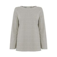 STRIPE BELL SLEEVE TOP | Warehouse