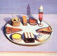 Wayne Thiebaud: The Dessert Tray