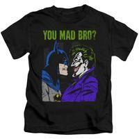 Shirt L Sons of Gotham Batman Bat Flames Shield Adult Ringer T