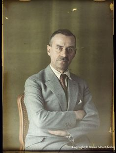 Thomas Mann, hand-coloured photo. one of my heroes.