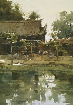 The Green - Chien Chung-Wei - 2012  Aquarelle - 18 x 27 cm