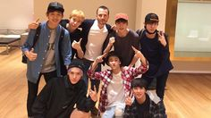 7.08.16 Tony Testa's Twitter update with NCT127 and Doyoung (old picture)