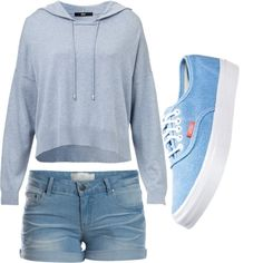 A fashion look from June 2014 featuring shirt hoodie, elastic jean shorts and round toe flat shoes. Browse and shop related looks. Vans, Dreams, Shoe Bag, Sneakers, Stuff To Buy, Shopping, Shoes, Collection, Design