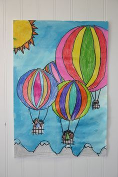 2nd grade balloons, could use with a color lesson, overlapping