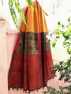 8ac4f1a7ec1 Multicolor Ajrakh Printed Cotton Dupatta Ethnic Outfits