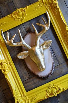 Quick DIY: Faux Gold Deer Bust