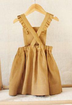 Handmade Linen Pinafore Dress   BloomingKiwi on Etsy