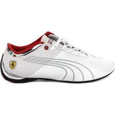 5c997d500bf Ferrari Future Cat M1 Big Leather Men S Shoe White Grey Red Red Images