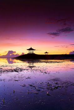 Sanur at sunrise, Bali,Indonesia