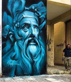 "2,356 curtidas, 4 comentários - @tschelovek_graffiti no Instagram: ""Art by @simpleg1. #simpleg #athensstreetart #streetartathens #athensgraffiti #graffitiathens…"""