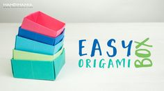 This origami tutorial will teach you how to easily make a paper box, also called Masu box. For making the lid just take slightly bigger (or smaller) paper sq...