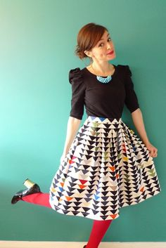 This skirt is clearly awesome. I'd feel obligated to have fun the day I wore this.