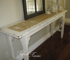 Shutter buffet re-do--love this! Shutter buffet re-do--love this! Shutter Table, Shutter Decor, Buffet, Furniture Makeover, Diy Furniture, Furniture Design, Automotive Furniture, Automotive Decor, Handmade Furniture