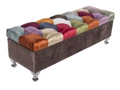 1 Tapiza - Patchwork Artisanal Trunk, Multicolor - Accent and Storage Benches Toulouse, Bench With Storage, Storage Benches, Entryway Furniture, Furniture Ideas, Home Living, Ottoman, Trunks, Artisan