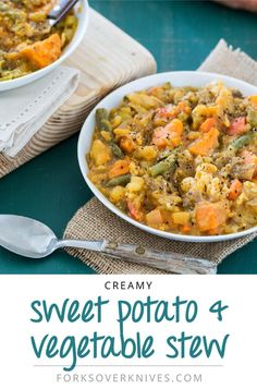 Creamy Sweet Potato and Vegetable Stew - Plant-Based Vegan Recipe