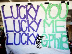 Lucky you, lucky me, lucky to be a GPhiB