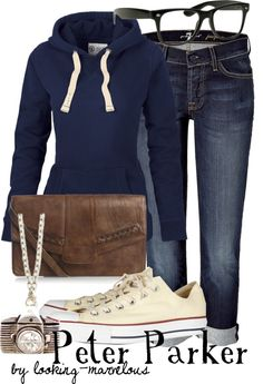 """peter parker"" by marvel-ous on Polyvore"