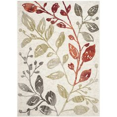 Safavieh Porcello Ivory / Green Floral and Plant Rug & Reviews   Wayfair