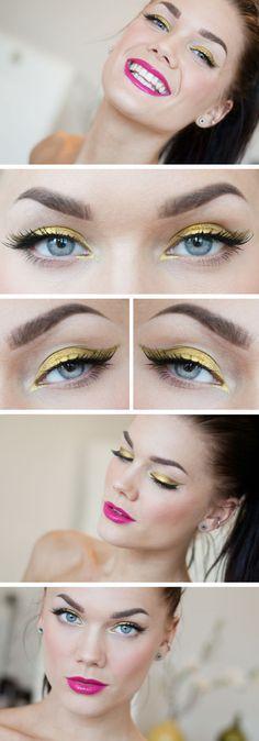 Linda Hallberg in LIQUID GOLD / Awe Fashion Makeup Tutorial