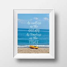 This listing is for one art print - inches that would perfectly decorate a room, office space, entryway or can make a perfect gift! Ocean Quotes, Beach Quotes, Quote Wall, Wall Art Quotes, Quote Prints, Art Prints, Quote Typography, Summer Prints, Lovers Art