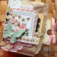 Scrap booking. Mini bag album by Pink Paislee.