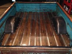 Ebony stain over oak. 1960-66 chevy truck wood bed