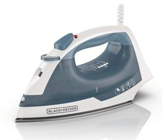 BLACK+DECKER Easy Steam Compact Iron, Volts : The auto shutoff provides added peace of mind. Get peace of mind with motion-sensitive technology that automatically shuts off the iron if left inactive on its heel, side or soleplate. Steam Iron Reviews, Best Steam Iron, Best Iron, Godzilla, Apartment Needs, Mickey Mouse Shirts, How To Iron Clothes, Bleach, Compact