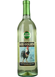 """Rex Goliath Sauvignon Blanc / one of my new favorites. Inexpensive and has the crisp green apple I have been searching for. Drinking wine, be it expensive (which I am occasionally lucky enough to get) or inexpensive (I hate the term """"cheap"""" unless your talking about that stuff they sell in gas stations) is truly a gift to the senses!"""