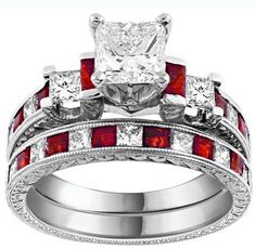 Red engagement ring