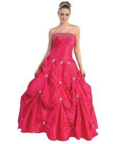 Pretty fuchsia long ball gown princess wedding dresses 2013 – 2014