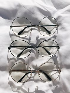 13f9f05f840 Brillies - Oversized Clear Lens Round Glasses  14 Circle Glasses