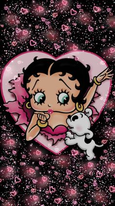 Betty Boop pink wallpaper by - - Free on ZEDGE™ Cute Wallpaper Backgrounds, Pink Wallpaper, Aesthetic Iphone Wallpaper, Cute Wallpapers, Betty Boop Cartoon, Girl Cartoon, Imagenes Betty Boop, Black Betty Boop, Betty Boop Pictures