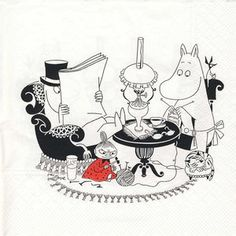 Evening in the moomin household