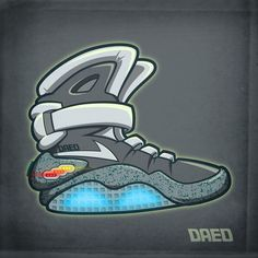 The most awesome shoe of all time.  The Nike AirMag from Back To The Future 2 (BTTF).  I heard that next year (2015) they're gonna release these with actual self-lacing laces!  Marty McFly won't be the one rockin these pretty soon.