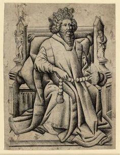 Meister der Spielkarten, Wilden-König A, 1440-1450 © Albertina, Wien